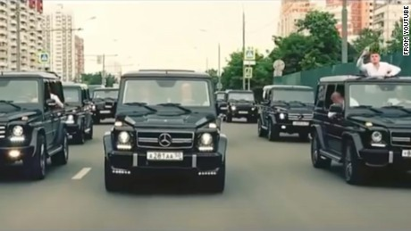 """New graduates of Russia's FSB academy appear to love the """"geliki,"""" the nickname of the Mercedes-Benz G-Klasse SUV, a common carrier of Moscow's rich and famous."""