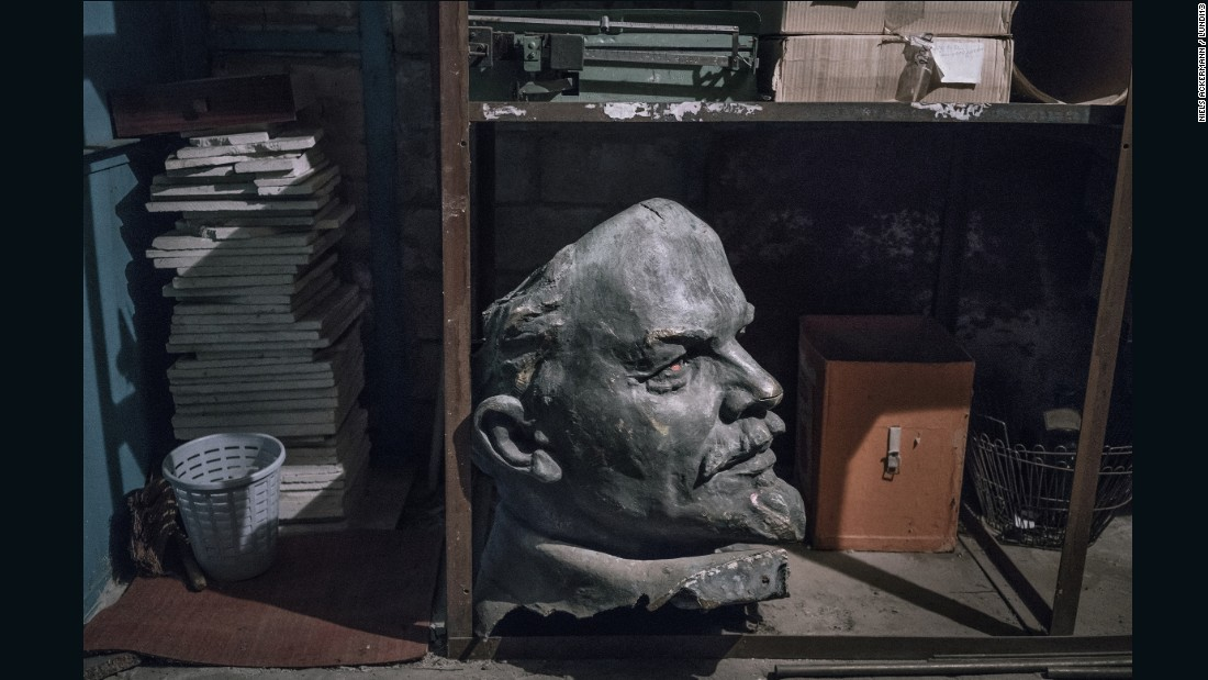 Dnipropetrovsk's Lenin's head was given to the city's history museum, which put it in storage while waiting for resources to exhibit it.