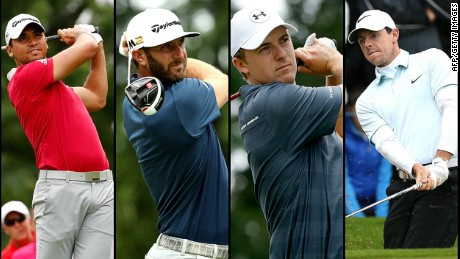 The world's top-four golfers (left to right); Jason Day, Dustin Johnson, Jordan Speith and Rory McIlroy have all pulled out of the Rio Olympics golf tournament due to fears over the zika virus.