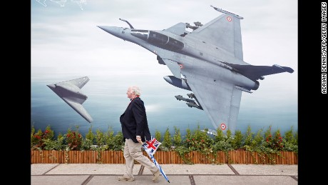 Showing off at Europe's biggest air show
