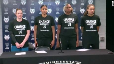 WNBA players speak out on Black Lives Matter T-shirts