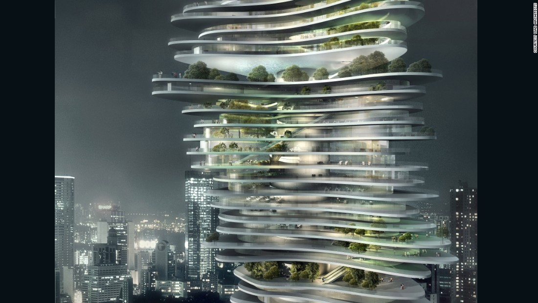 "The design for Urban Forest is intended to integrate nature with ""stacked"" open floors and areas that include patios and sky gardens."