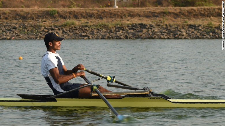 India's Dattu Bhokanal rowing for the gold in Rio