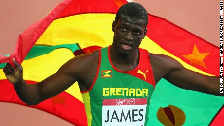 GLASGOW, SCOTLAND - JULY 30:  Kirani James of Grenada celebrates winning gold in the Men's 400 metres Final at Hampden Park during day seven of the Glasgow 2014 Commonwealth Games on July 30, 2014 in Glasgow, United Kingdom.  (Photo by Alex Livesey/Getty Images)