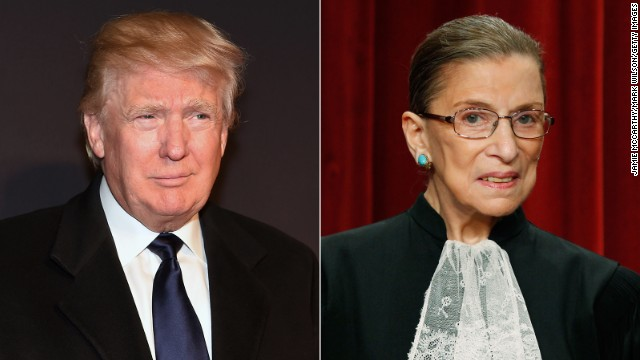 Justice Ruth Bader Ginsburg intensifies criticism of Trump: 'He is a faker'
