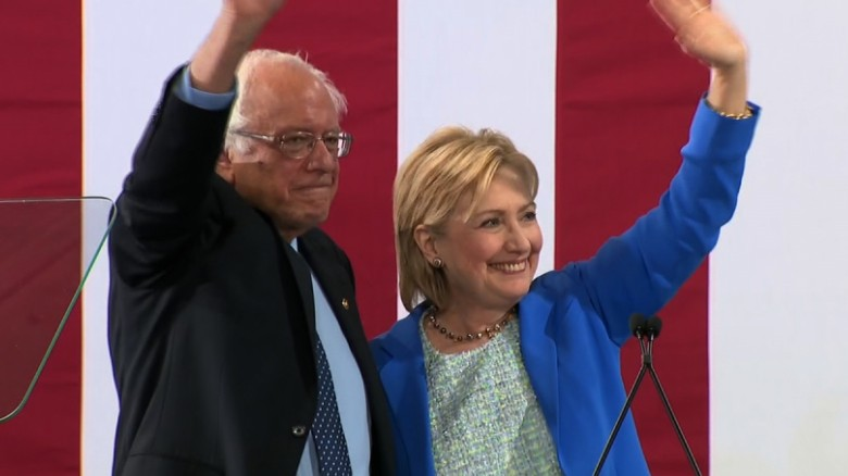 Bernie Sanders joins Hillary Clinton to beat Trump