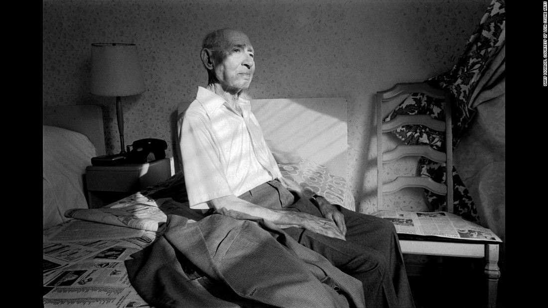 """A man sits in his room at the An-Nell Hotel in 1984. Monroe says he has been fond of this image for a long time. """"Growing up in South Beach, being Jewish, and becoming a photographer -- the chips fell in place,"""" he said. """"I even knew that this was all I wanted to do for a decade, and it worked out that way."""""""