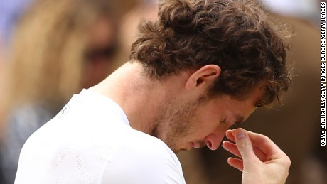 LONDON, ENGLAND - JULY 10:  Andy Murray of Great Britain reacts following victory in the Men's Singles Final against Milos Raonic of Canada on day thirteen of the Wimbledon Lawn Tennis Championships at the All England Lawn Tennis and Croquet Club on July 10, 2016 in London, England.  (Photo by Clive Brunskill/Getty Images)