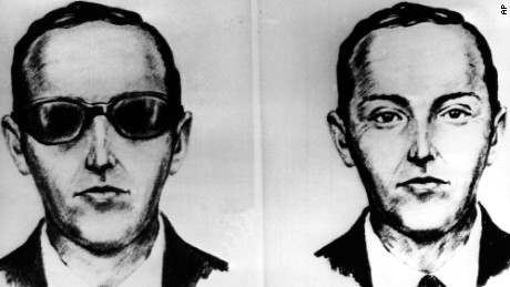 "This undated artist' sketch shows the skyjacker known as D.B. Cooper from recollections of the passengers and crew of a Northwest Airlines jet he hijacked between Portland and Seattle on Thanksgiving eve in 1971. The FBI says it's no longer actively investigating the unsolved mystery of D.B. Cooper. The bureau announced it's ""exhaustively reviewed all credible leads"" during its 45-year investigation. (AP-Photo, file)"