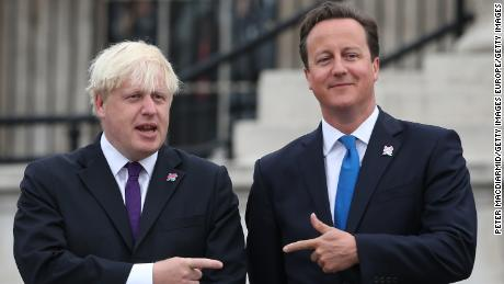 Boris Johnson (left) campaigned for Leave, while prime minister David Cameron supported Remain.