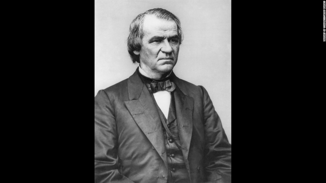 Johnson was a War Democrat chosen by Republican Abraham Lincoln as part of his National Union ticket in 1864. After Lincoln's assassination in 1865, Johnson became President. He served until 1869, surviving an impeachment conviction by a single vote in the Senate.