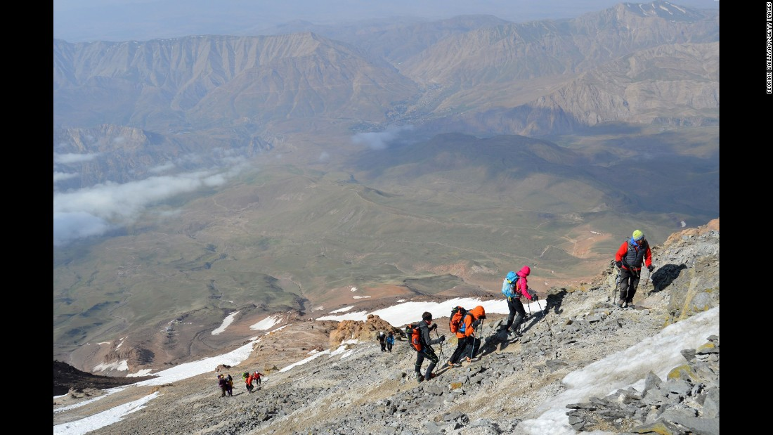 In July, a group of French and Iranian climbers ascended Iran's highest peak, Mount Damavand, as a way of building closer scientific ties between the two countries and to promote Iranian tourism. The mountain is 5,671 meters tall (18,606 feet).
