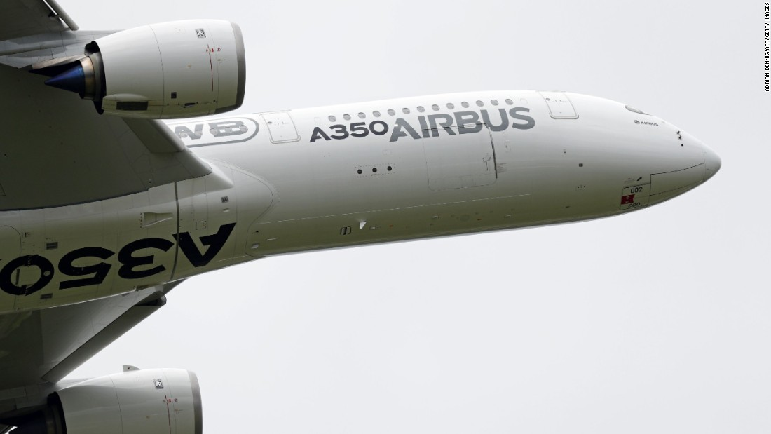 The second Airbus A350XWB ever built was also showing off at Farnborough. It wowed the crowds with a super-steep takeoff.