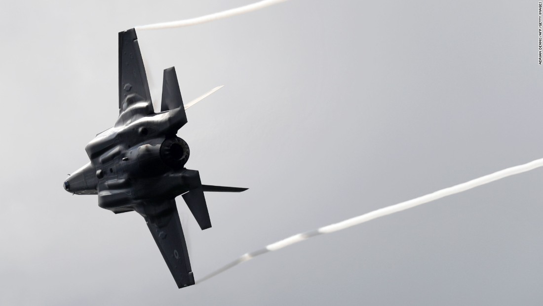"Boom! The Lockheed Martin F-35B thunders across the skies above the UK's Farnborough Airshow. Its flyby was one of several ""wow"" moments witnessed by spectators at the huge aviation event."