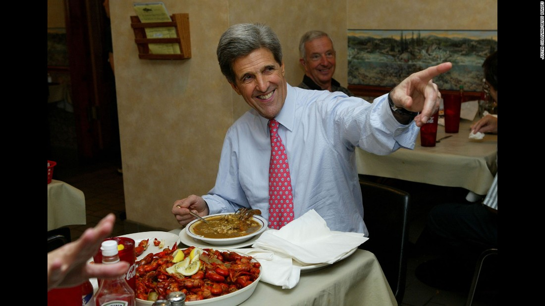 Current U.S. Secretary of State John Kerry was running for president in 2004 when he stopped to eat lunch at Deanie's Seafood restaurant in New Orleans.