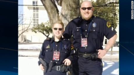 Katrina Ahrens wife of fallen Dallas officer