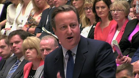 David Cameron faces his last Prime Minister's Questions (PMQs) at the House of Commons in London on July 13, 2016.
