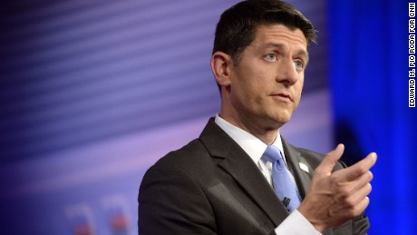House Speaker Paul Ryan appears at a CNN Town Hall moderated by Jake Tapper at CNN's Time Warner Studios in New York on Tuesday, July 12, 2016.
