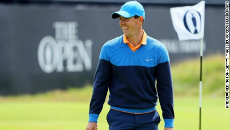 McIlroy missed the 2015 Open with an ankle injury from a soccer kickabout.