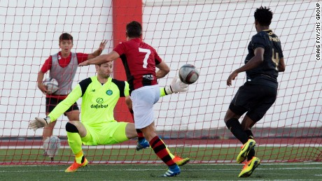 Lee Casciaro scored the only goal of the game as the Red Imps pulled off a historic victory.