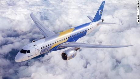 Embraer's energy-saving new jet -- the E190-E2.