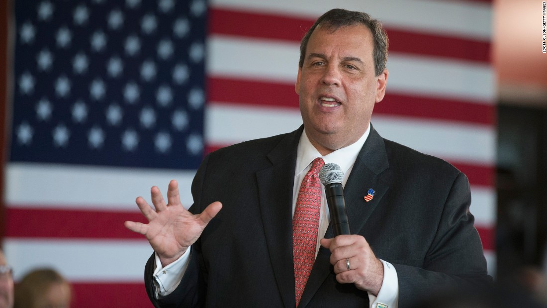 New Jersey Gov. Chris Christie, who ran against Trump in the primary