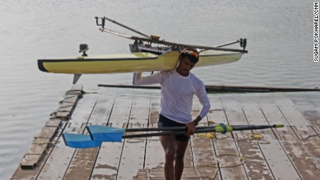 Bhokanal started rowing in the army, he will represent India at this year's Olympics