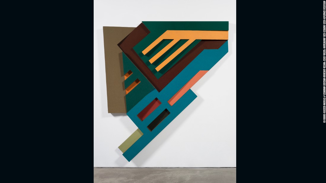 """The colorful reliefs were also a nod to Russian Constructivism. <br /><br />""""I mean, there's no question that there's Tatlin and Rodchenko, and behind it is Malevich,"""" said Stella, referencing some of the movement's most influential artists."""
