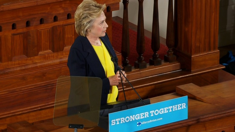 Clinton: GOP the party of Trump, not party of Lincoln