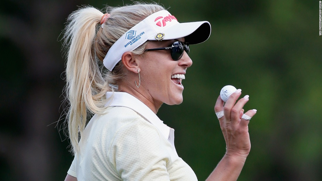 Professional golfer Natalie Gulbis