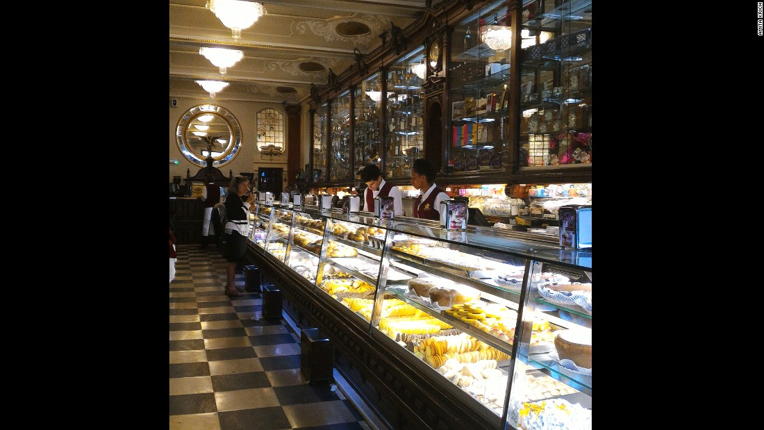 With chandeliers and marble floors, Versailles is the most opulent of all Lisbon's cafes.