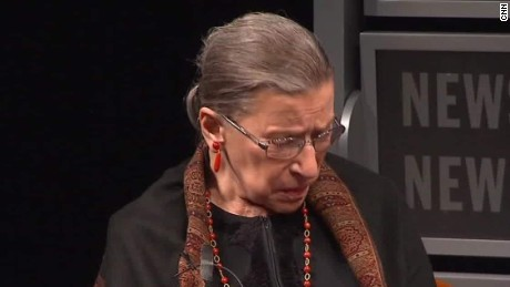 Ginsburg continues criticism of Trump, and he fires back