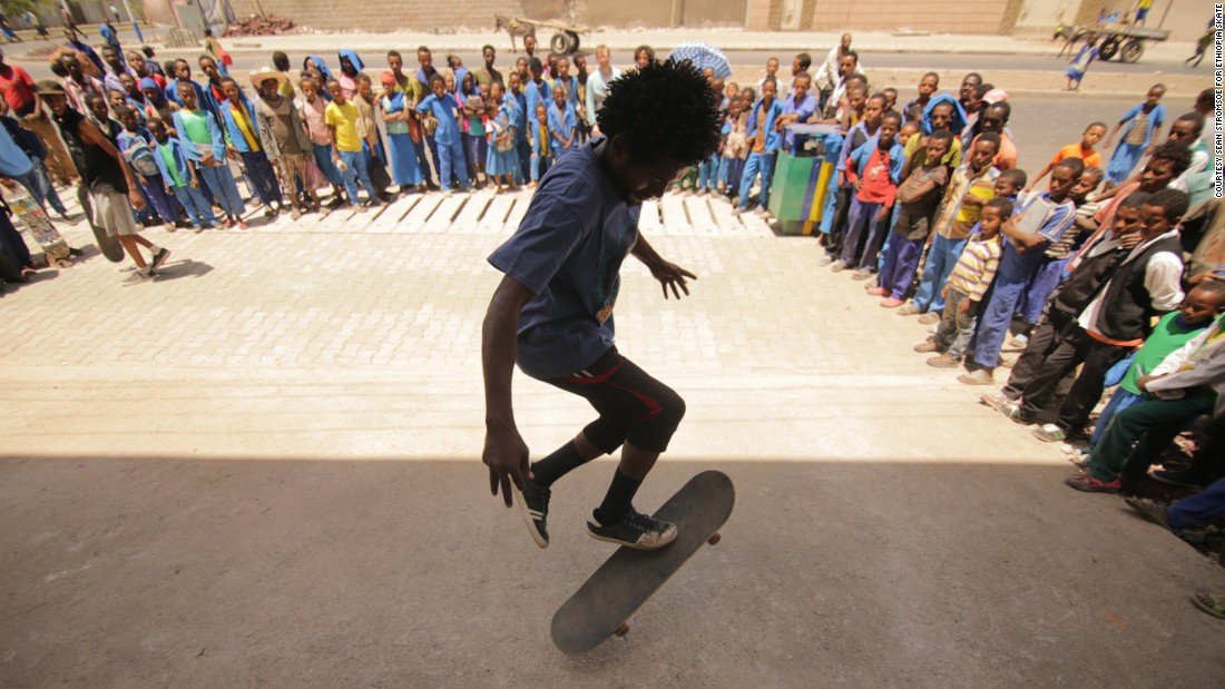 There is a small but growing community of skaters in Ethiopia. There are 150 members of collective Ethiopia Skate. Before, skaterboarders used a parking lot in Sarbet, but would have to compete with those playing soccer and parked taxis. There were also issues with street bullies.