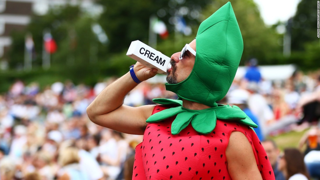 """The new additions to the 20,000 strong collection also include one more unusual number -- the costume worn by """"Strawberry Man"""" to this year's Wimbledon tournament."""
