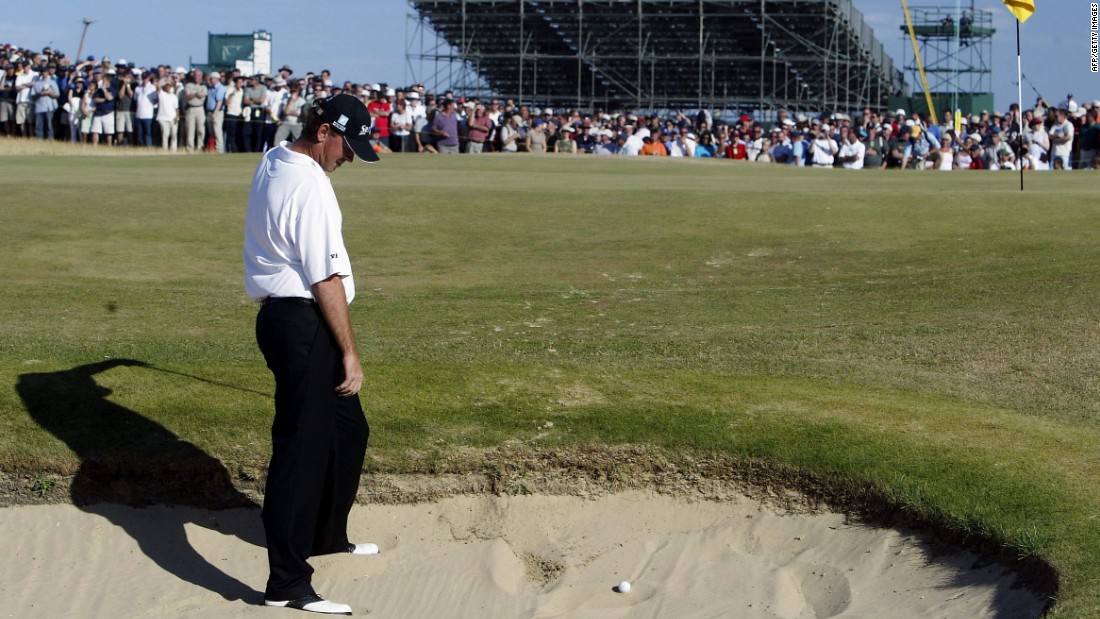 Three shots clear with four to play, Bjorn looked all set to seal a third Open Championship victory. Did the pressure get to him?  Taking <em>three </em>attempts just to get out of the bunker on the par-3 16th -- before a bogey on the 17th -- the Dane handed the title to the unheralded Ben Curtis.