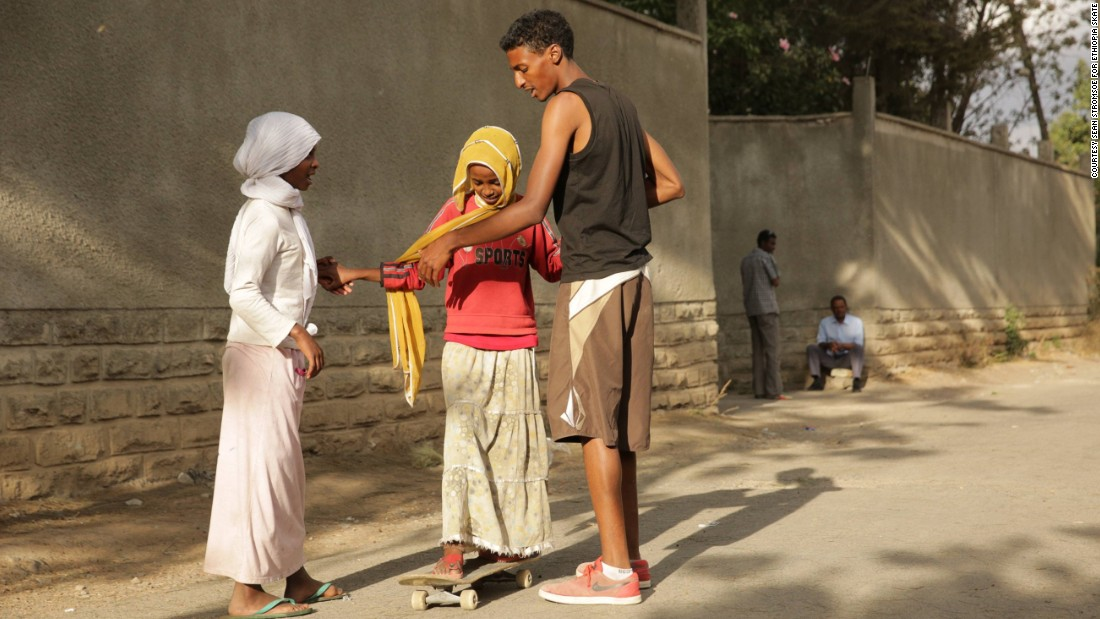 """Yared Aya was born in Washington D.C. and moved to Ethiopia with his family in 2013. He grew up skateboarding and brought his passion back to his homeland. """"Africa has really grown and developed and I want to see it change even more in the future. I want more kids to be involved in skate,"""" he says."""