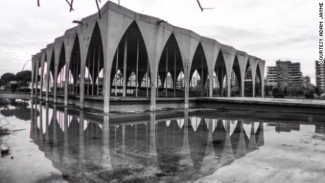 Deserted: Oscar Niemeyer's unfinished fairground.