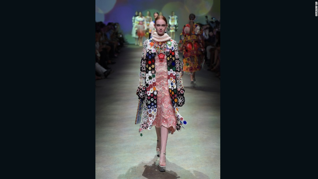 She may not have won last year's competition, but Yuko Koike's colorful crochet garments certainly made an impact. <br />