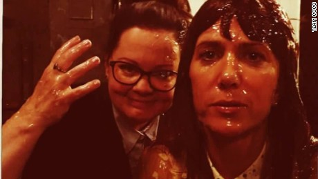 CONAN melissa mccarthy kristen wiig slimed ghostbusters _00004610