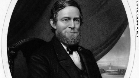 Schuyler Colfax (1823-1885), is pictured in 1875. He was Speaker of the House of Representatives and served as the 17th Vice President of the United States.