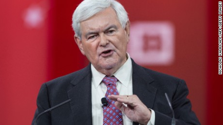 Former US House Speaker Newt Gingrinch speaks at the annual Conservative Political Action Conference (CPAC) at National Harbor, Maryland, outside Washington, DC on February 27, 2015.
