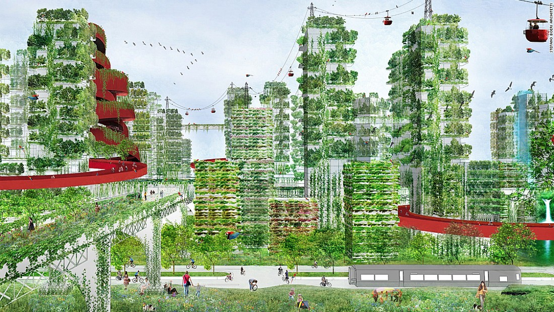 "The ""Forest City"" is an idea to create a sustainable city of 100,000 inhabitants which would build on the success of Boeri's ""Vertical Forest."""