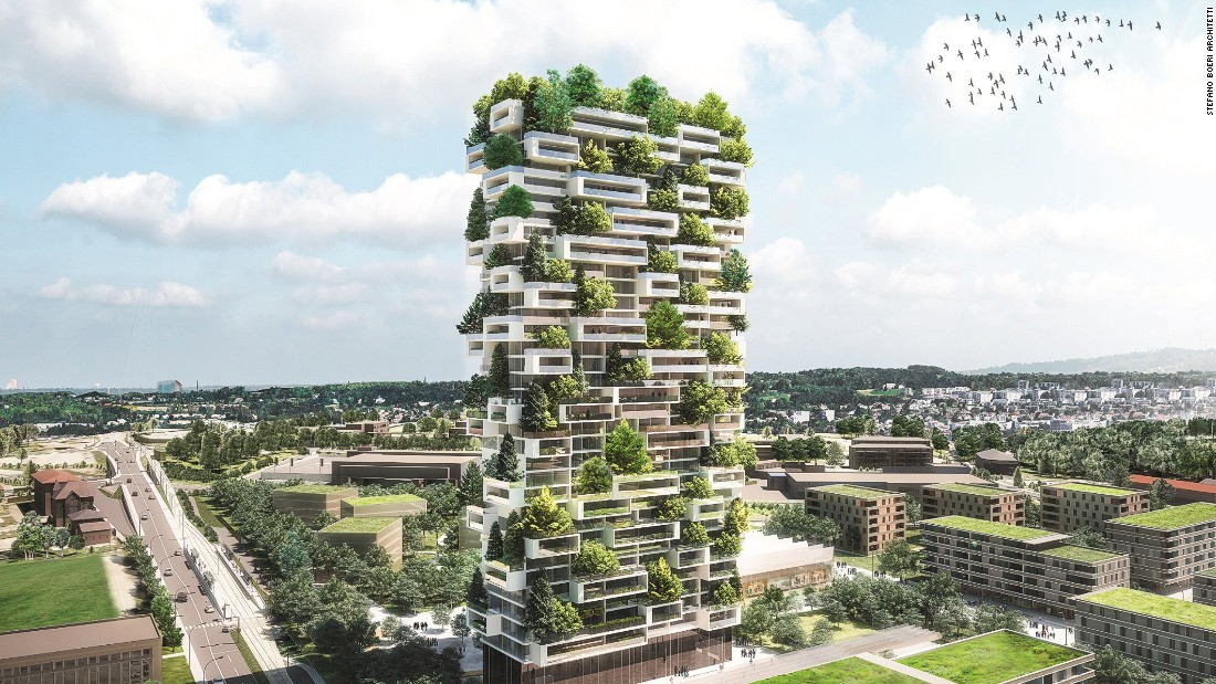 A similar-looking highrise -- as seen in this artist's impression -- will start construction in Lausanne, Switzerland in 2017.
