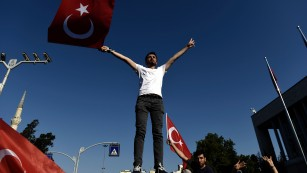 Celebratory mood on Turkey streets follows chaos