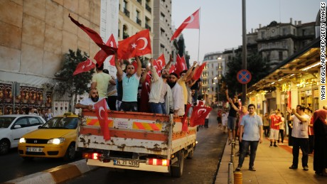 People flood Taksim Square following the President's call to occupy the streets.