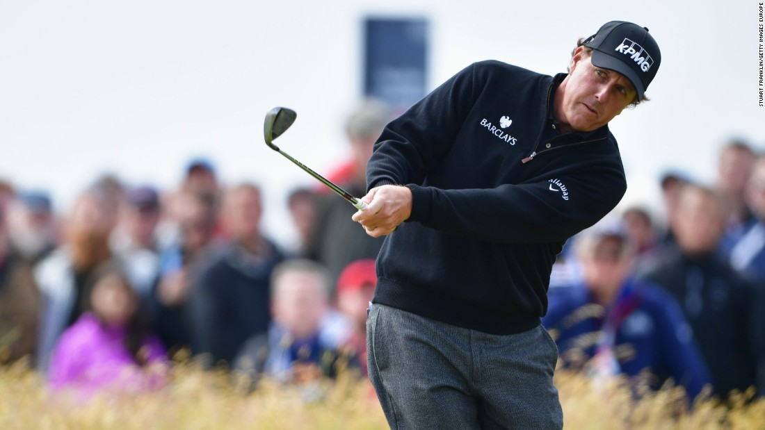 Mickelson had to use all his famed short game to stay in touch with the rampant Stenson at Royal Troon.