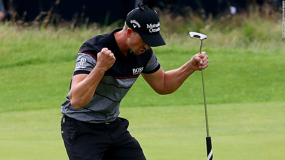Stenson triumphed after holing a birdie putt on the final hole to set a new British Open scoring record of 20-under-par, beating the previous record set by Tiger Woods in 2000.