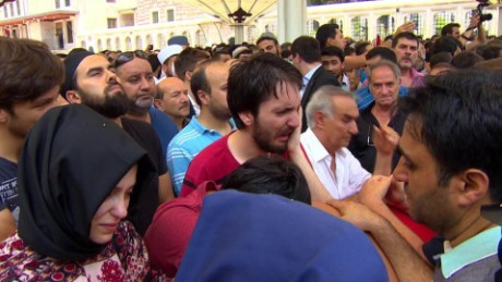 Turks grieving after deadly coup attempt