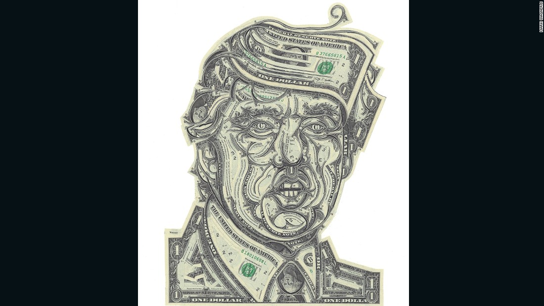 """Brooklyn-based artist <a href=""""http://markwagnerinc.com"""" target=""""_blank"""">Mark Wagner</a> makes collages out of currency, meticulously handcrafting U.S. dollar bills into presidents, landmarks and fantastical scenery."""