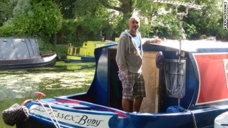 """David Akinsanya aboard the """"Golden Buoy"""""""